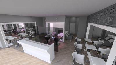Salon Space - 150mq - 1614ft - Reception Area