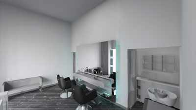 Salon Space - 30mq - 322ft - Styling Area
