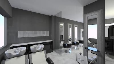 Salon Space - 40mq - 430ft - Shampoo Area