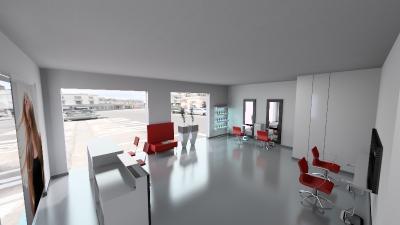 Salon Space - 70mq - 750ft - General View
