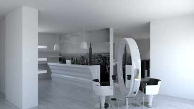 Salon Space 170mq - 1830sf - Reception Area
