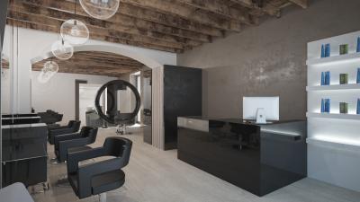 Retro Style Salon - Reception Area