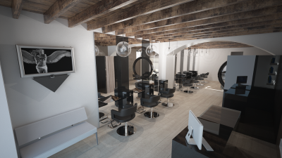 Retro Style Salon - Styling Area