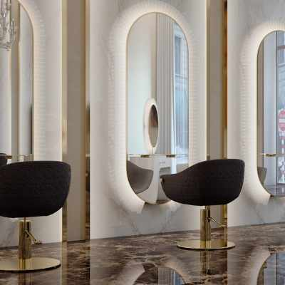 Katherine Collar Wall - Salon Styling Stations - salon view #1