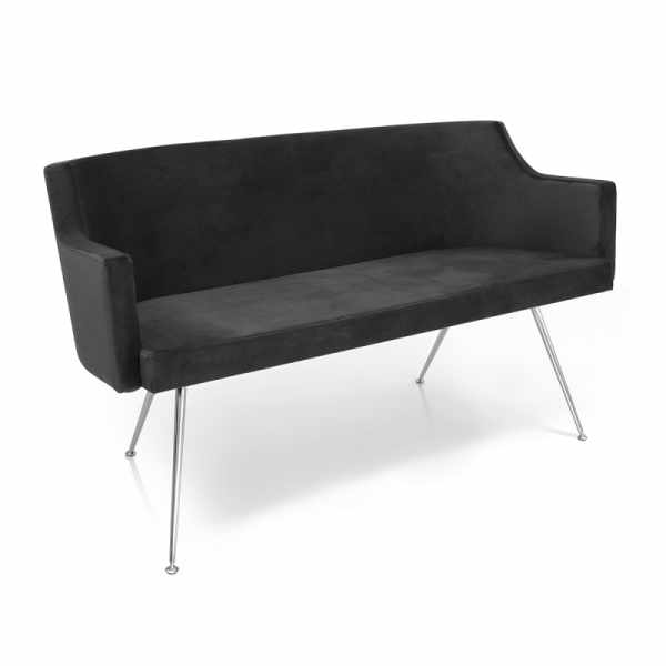 Birkin Sofa 2 Black - Waiting Area Seating