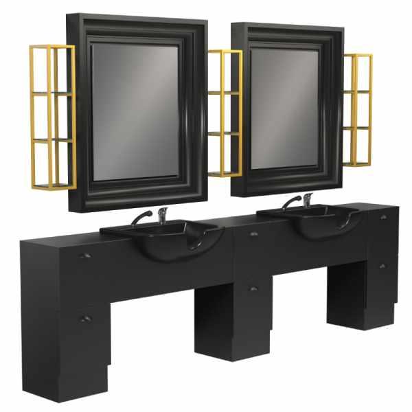 Backinblack 2P - Salon Styling Stations