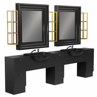 Backinblack 2P - Salon Styling Stations