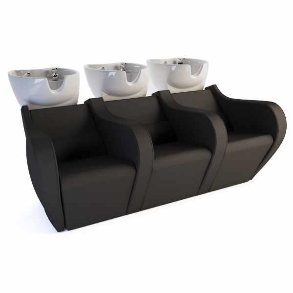 Celebrity Prime Shiatsu Sofa 3P - Shampoo Bowls