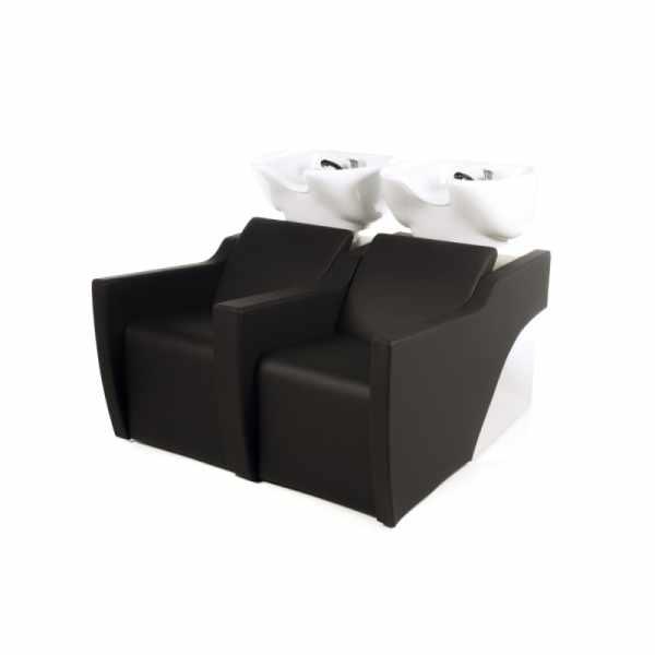 Flatiron 2P Shiatsu Black - Shampoo Bowls