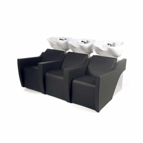Flatiron 3P Shiatsu Black - Shampoo Bowls