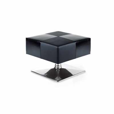 Black Pouf - Waiting Area Seating